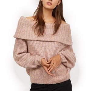 H & M Off the shoulder Sweater  size small